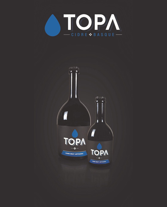 Topa Cider for premium glass bottle by Selective Line