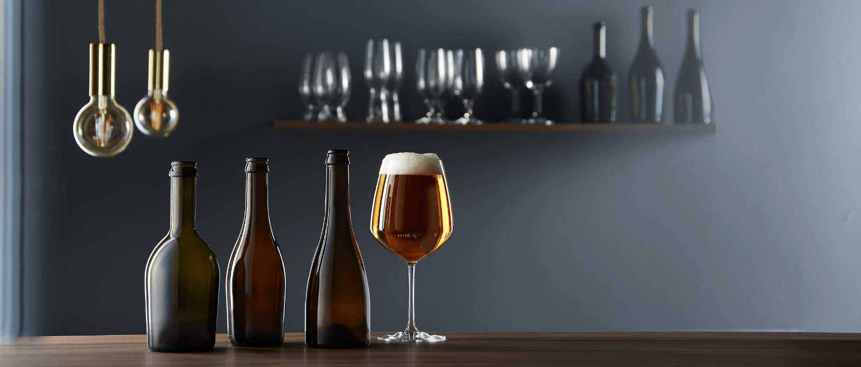 Beers with premium glass bottles by Selective Line