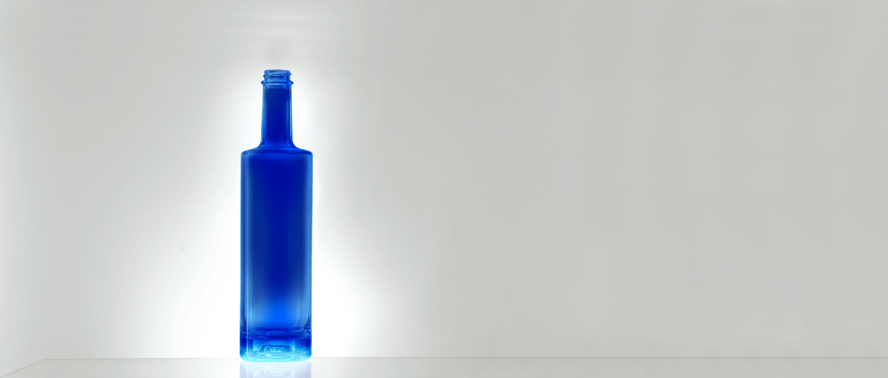 The color for premium fluorescent glass bottle by Selective Line
