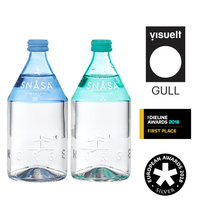 The high-end glass bottle Drink Without Alcohol Snasa Water for Selective Line