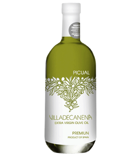 The upscale glass bottle Villa Oil of Canena for Selective Line