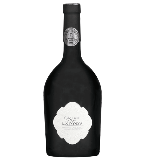 The high-end red wine bottle Château Félines for Selective Line
