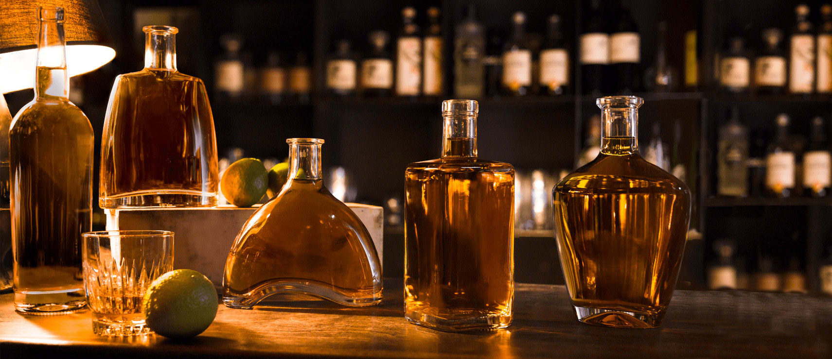Glass bottle for spirits - Premium market by Selective Line